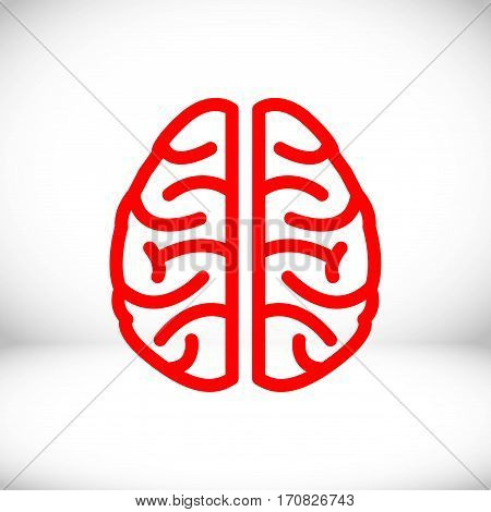 brain icon stock vector illustration flat design