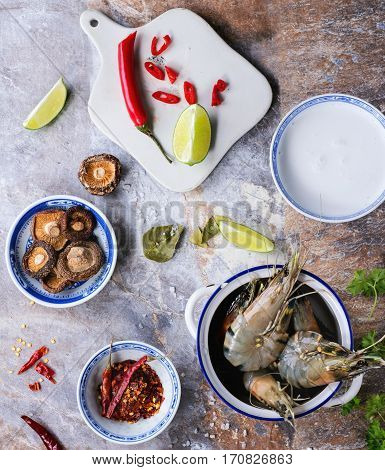 Ingredients For Soup Tom Yam