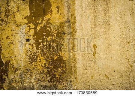 Plaster, yellow plastered wall, wet wall, yellow, stucco background, wall texture
