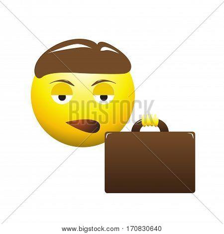 Bored Business Man Emoticon