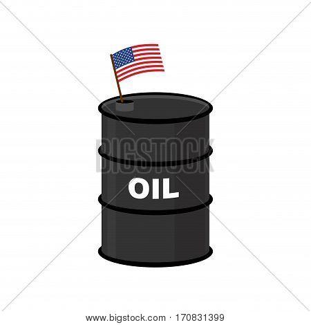 Usa Barrel Oil. America Petroleum. Business Illustration