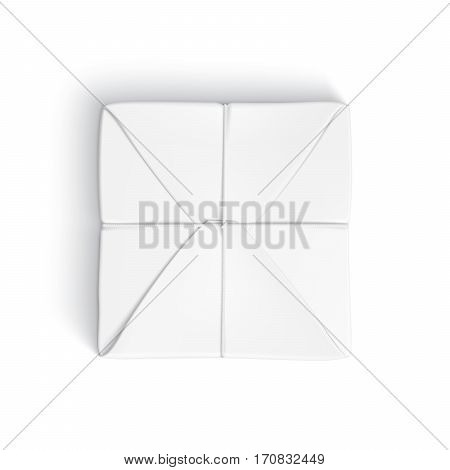 Realistic Template Of Parcel Wrapped Up With White Paper