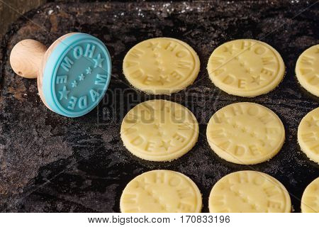 Uncooked Shortbread With Stamp