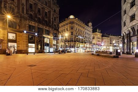Beautiful square in central part of Vienna Austria Europe.