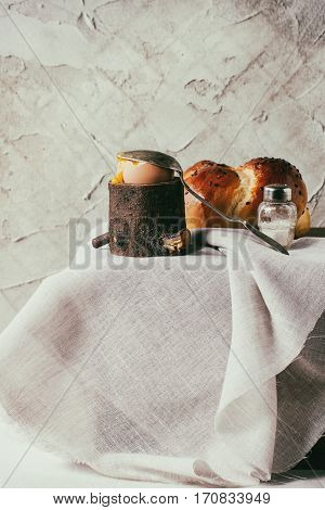 Breakfast With Egg And Bread