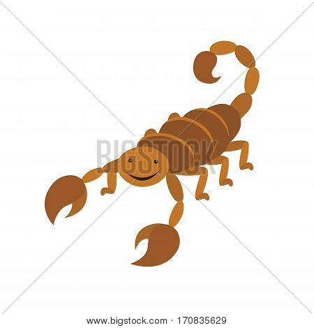 Scorpion animal cartoon character isolated on white background. vector illustration for children