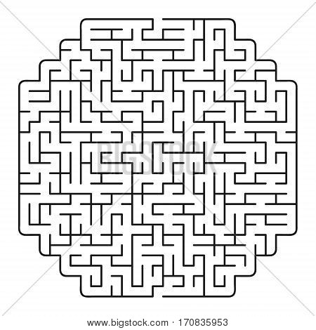 Vector labyrinth 90. Maze / Labyrinth with entry and exit.
