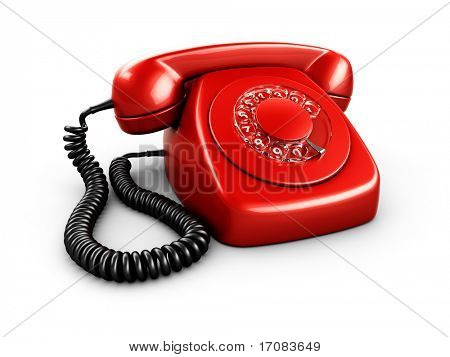 3d rendering of an old vintage phone