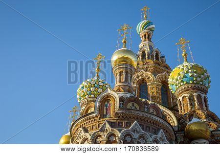 The Church of the Savior on Spilled Blood in St. Petersburg Russia