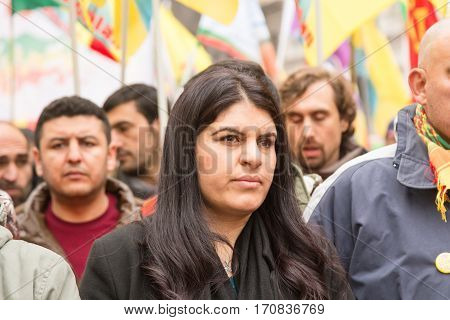 Kurdish Demonstrators Protesting In Milan, Italy