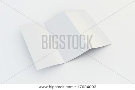 3d rendering of a blank brochure