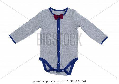 Children underwear gray isolate on white cotton
