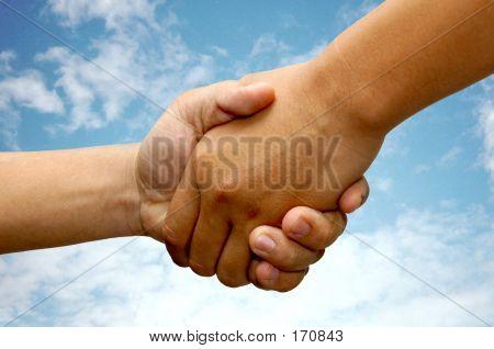 Hand Shake With Sky