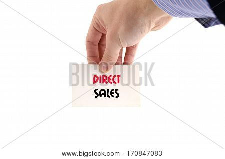 Direct sales text concept isolated over white background