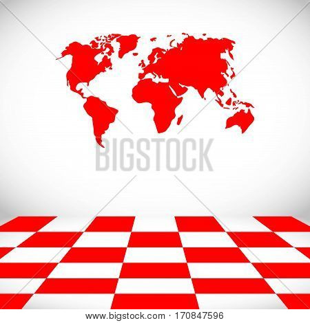 world map icon stock vector illustration flat design