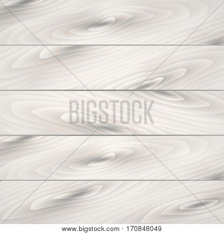 White, grey wooden wall texture, old painted pine planks. Use for your design. presentations, etc. wooden texture, vector Eps10 illustration.