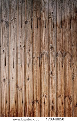 Old wooden fence with shabby paint. Texture background