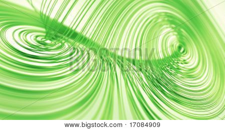 3d rendering of a Lorenz Attractor fractal in green with white background
