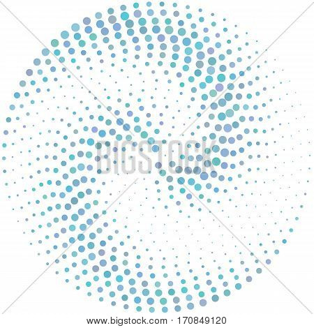 Circle Abstract Colorul Dotted Vector Background