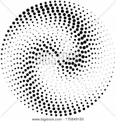 Circle Abstract Dotted Vector Background