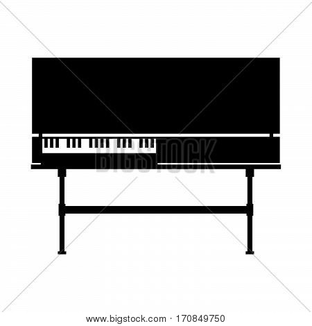 Clavichord, musical instrument ( shade picture )