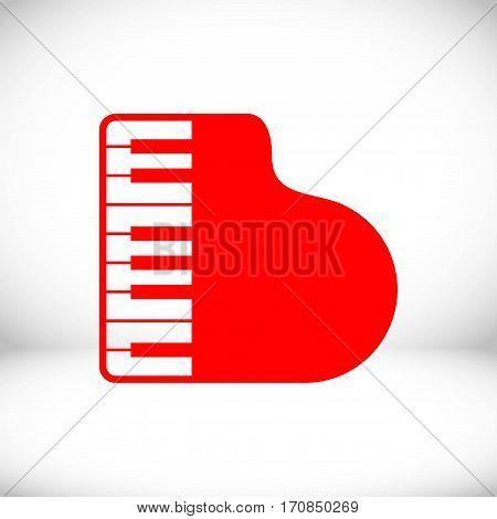 piano icon stock vector illustration flat design