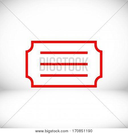 ticket icon stock vector illustration flat design