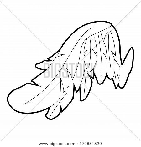 Angel wing icon. Outline illustration of angel wing vector icon for web