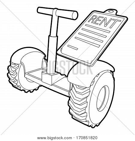 Rent segway icon. Outline illustration of rent segway vector icon for web
