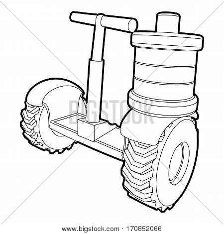 Segway battery icon. Outline illustration of segway battery vector icon for web