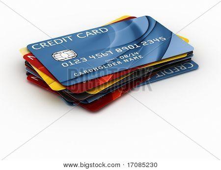 renderowania 3D kart kredytowych