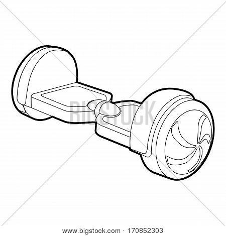 Small segway icon. Outline illustration of small segway vector icon for web