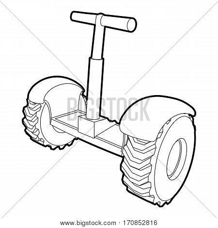 Eco segway icon. Outline illustration of eco segway vector icon for web