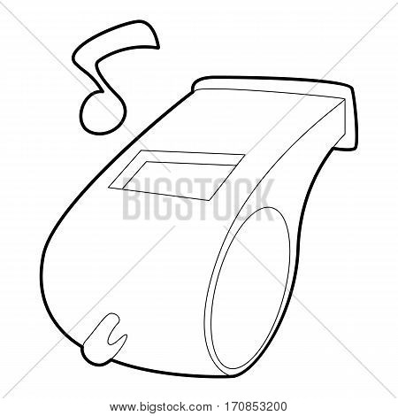 Whistle icon. Outline illustration of whistle vector icon for web