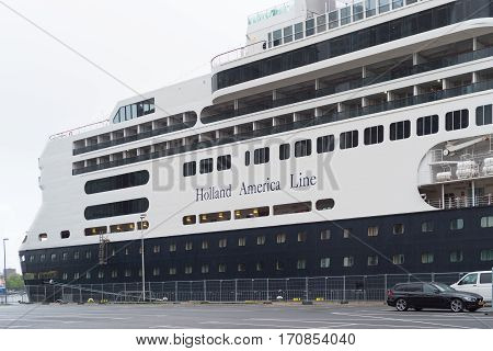 ROTTERDAM NETHERLANDS - MAY 14 2016: Passenger ship the