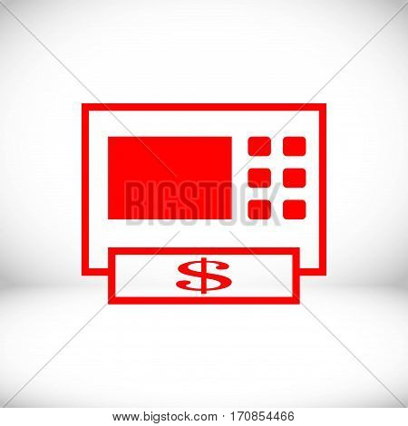 ATM icon stock vector illustration flat design