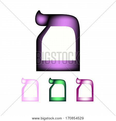 Hebrew font. The Hebrew language. The letter Mem sofit. Vector illustration on isolated background.