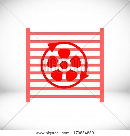 radiator cooling system icon stock vector illustration flat design