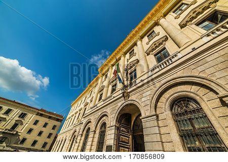 Palazzo della Provincia in Sassari in Italy