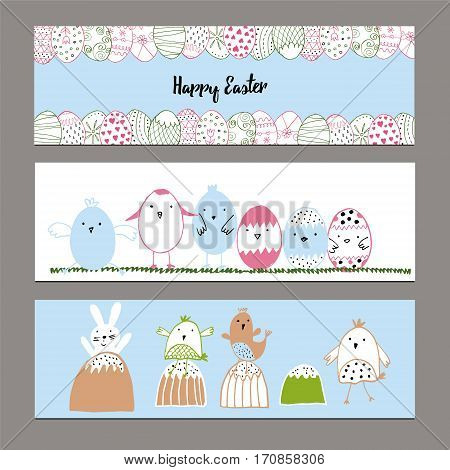 Hand Drawn Easter Banners