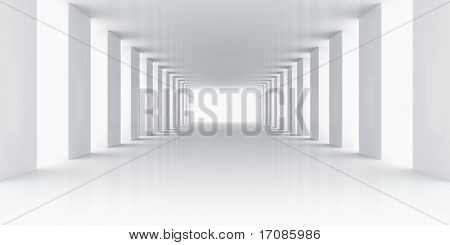 3d rendering of an empty white room