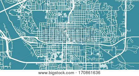 Detailed vector map of Bismarck, scale 1:30 000, USA