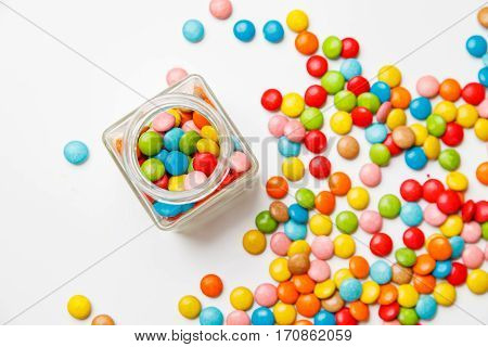 Jelly Beans Sugar Candy Snack In A Jar