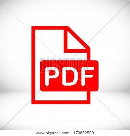 pdf icon stock vector illustration flat design