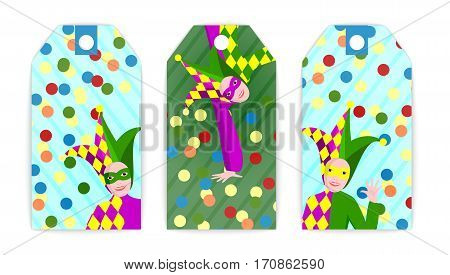 vector set tag illustration april fool on colorful background