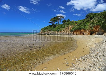 Coast of the Atlantic Ocean near Douarnenez Brittany France