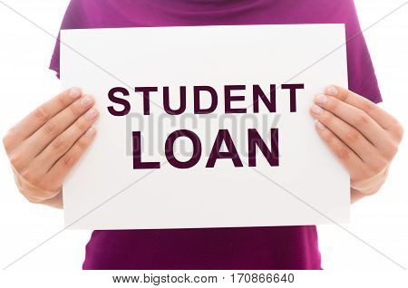 White Paper Sheet With Text Student Loan