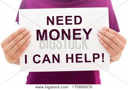 Need Money? I Can Help!
