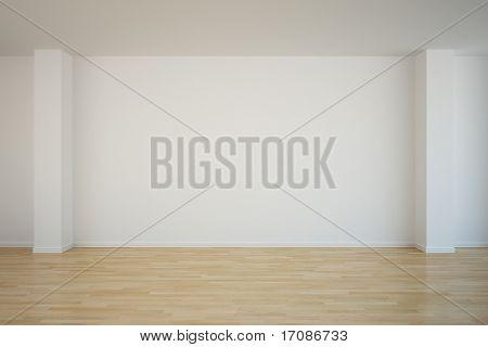 3d rendering of an empty room