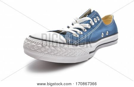 blue sneaker isolated on a white background